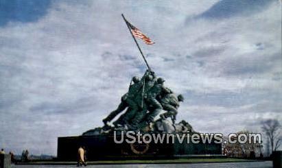 Us Marine Corps War Memorial  - Arlington, Virginia VA Postcard