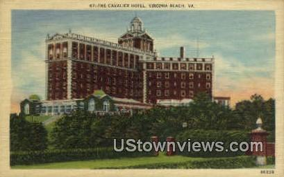 The Cavalier From Sunken Garden  - Virginia Beach Postcards, Virginia VA Postcard