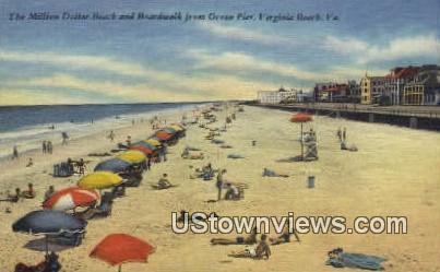 The Million Dollar Beach  - Virginia Beach Postcards, Virginia VA Postcard