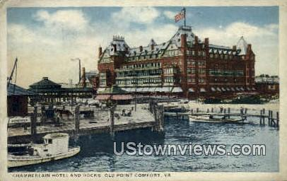 Chamberlin hotel And Docks  - Old Point Comfort, Virginia VA Postcard