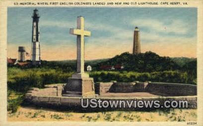 Memorial   - Cape Henry, Virginia VA Postcard