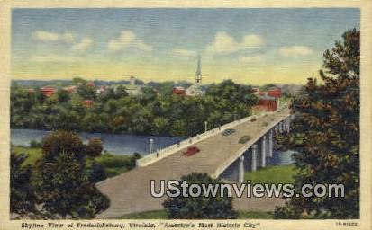 Fredericksburg, Virginia, VA, Postcard
