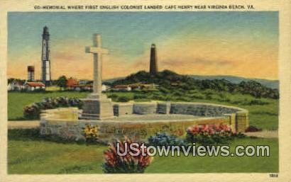 Memorial  - Virginia Beach Postcards, Virginia VA Postcard