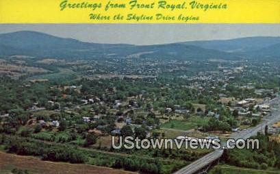 Greetings From  - Front Royal, Virginia VA Postcard