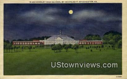 Handley High School  - Winchester, Virginia VA Postcard
