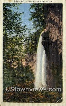 Falling Springs  - Clifton Forge, Virginia VA Postcard