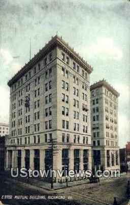 Mutual Assurance Building  - Richmond, Virginia VA Postcard