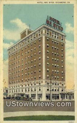 Hotel WM Byrd  - Richmond, Virginia VA Postcard