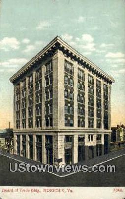 Board Of Trade Building  - Norfolk, Virginia VA Postcard