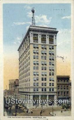 The Royster Building  - Norfolk, Virginia VA Postcard