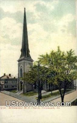 Monumental Methodist Church  - Portsmouth, Virginia VA Postcard