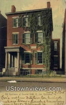 Residence of General Robert E Lee  - Richmond, Virginia VA Postcard