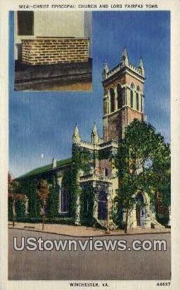Christ Episcopal Church  - Winchester, Virginia VA Postcard