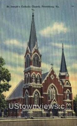 St Josephs Catholic Church  - Petersburg, Virginia VA Postcard