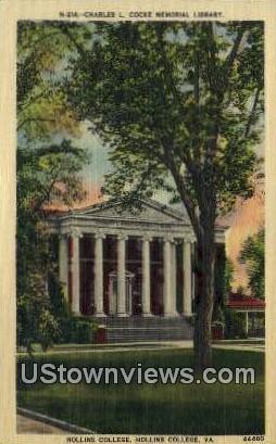 Hollins College  - Virginia VA Postcard