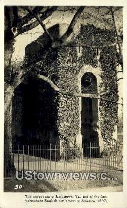 The tower Ruin At Jamestown  - Virginia VA Postcard
