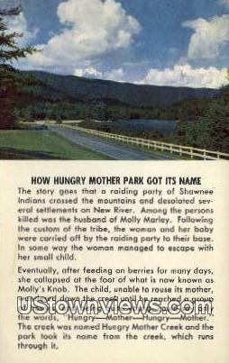 Hungry Mother State Park, Virginia, VA, Postcard