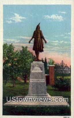Pocahontas Monument  - Jamestown Island, Virginia VA Postcard