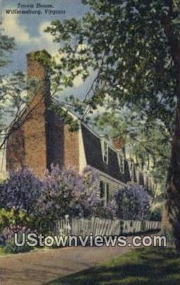 Travis House  - Williamsburg, Virginia VA Postcard