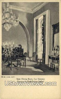 State Dining Room Lee Mansion  - Richmond, Virginia VA Postcard