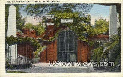 George Washington Tomb - Mount Vernon, Virginia VA Postcard