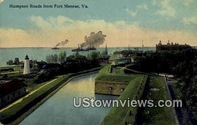 Hampton Roads  - Fort Monroe, Virginia VA Postcard