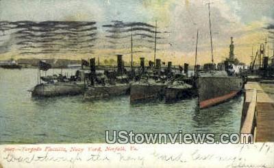 Torpedo Flottilla  - Norfolk, Virginia VA Postcard
