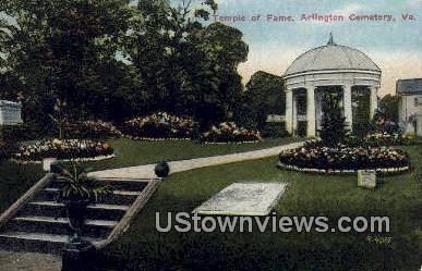 Temple Of Fame  - Arlington, Virginia VA Postcard