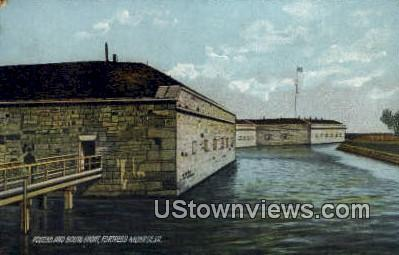 Postern And South Front  - Fortress Monroe, Virginia VA Postcard