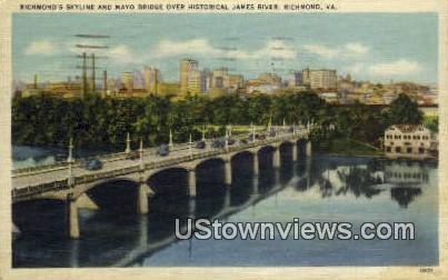 Skyline  - Richmond, Virginia VA Postcard