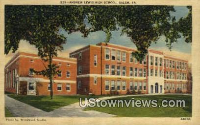 Andrew Lewis High School  - Salem, Virginia VA Postcard