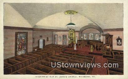 Interior Of Old St Johns Church - Richmond, Virginia VA Postcard