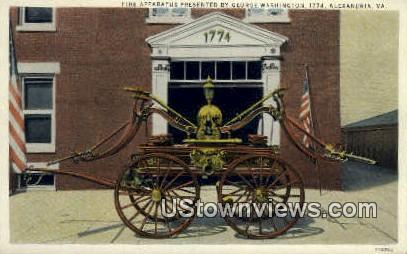 Fire Apparatus  - Alexandria, Virginia VA Postcard