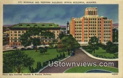 Western Railway Office Building  - Roanoke, Virginia VA Postcard