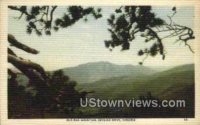 Old Rag Mountain  - Skyline Drive, Virginia VA Postcard