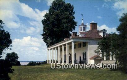 East Front Of Mansion  - Mount Vernon, Virginia VA Postcard