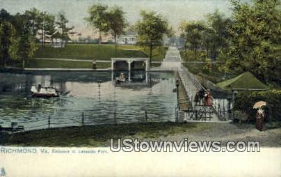 Entrance To Lakeside Par  - Richmond, Virginia VA Postcard