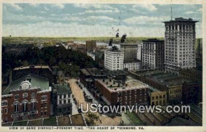 The Heart Of Richmond  - Virginia VA Postcard