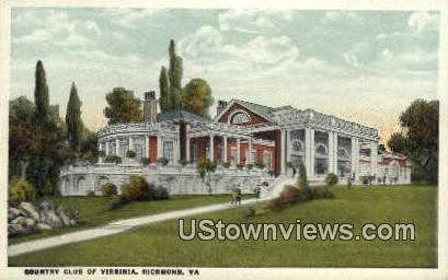 Country Club  - Richmond, Virginia VA Postcard