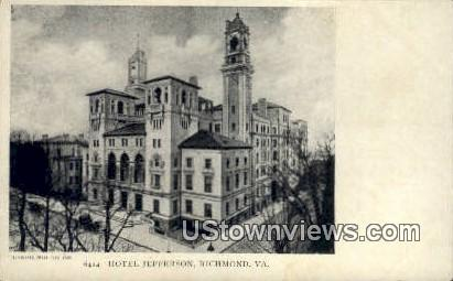 Hotel Jefferson  - Richmond, Virginia VA Postcard