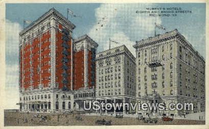 Murphy's Hotels  - Richmond, Virginia VA Postcard