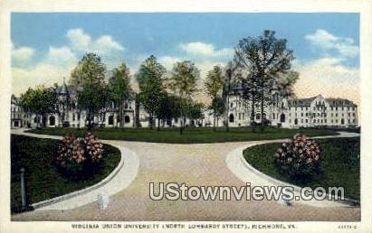 Virginia Union University  - Richmond Postcard