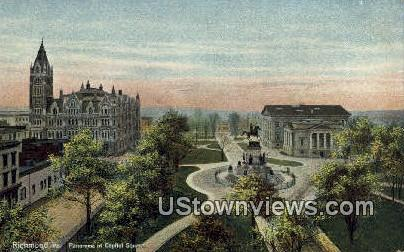 Panorama Of Capitol Square  - Richmond, Virginia VA Postcard