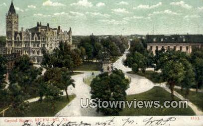 Capitol Square  - Richmond, Virginia VA Postcard