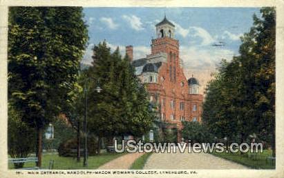 Randolph Macon Womens College  - Lynchburg, Virginia VA Postcard