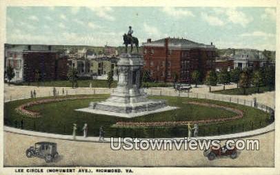 Lee Circle  - Richmond, Virginia VA Postcard