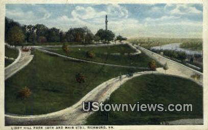 Libby Hill Park  - Richmond, Virginia VA Postcard