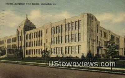 Thomas Jefferson High School  - Richmond, Virginia VA Postcard