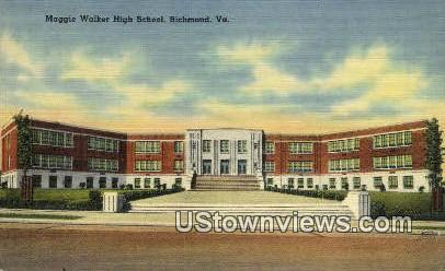 Maggie Walker High School  - Richmond, Virginia VA Postcard