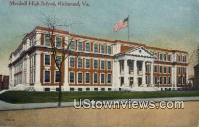 Marshall High School  - Richmond, Virginia VA Postcard